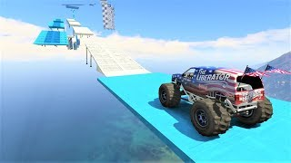 GTA 5 - Can Monster Truck Do Parkour challenge