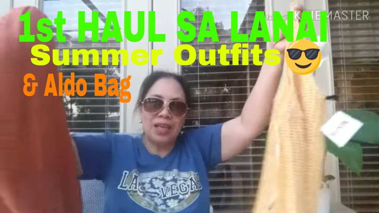 [VIDEO] - 1st Haul  Sa  Lanai     SUMMER OUTFITS   Aldo Bag 9