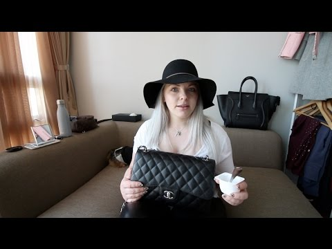 What's In My Bag Chanel Jumbo Classic Flap Plus Yogurt & Boobs