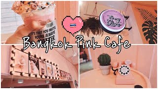 INSTAGRAMMABLE CAFE IN BANGKOK!! PINK CAFE!  🇹🇭💞 | CAFE VLOG #1