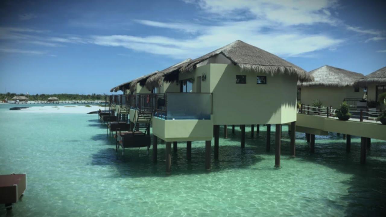 El dorado maroma resort overwater bungalow youtube for El dorado cabins