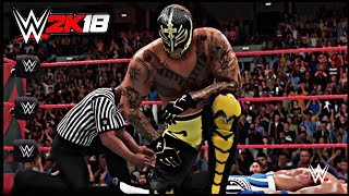 WWE 2K18 Rey Mysterio vs AJ Styles