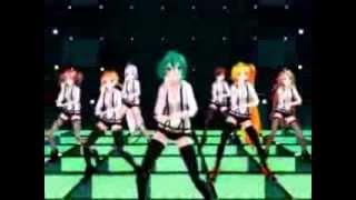 [MMD] Gentleman Miku, Neru, Rin, IA, Teto, Meiko, Haku, Gumi (+ Stage Download)