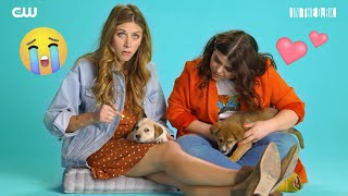 The Cast Of In The Dark Answers Grown-Up Questions From Rescue Puppies // Presented By The CW