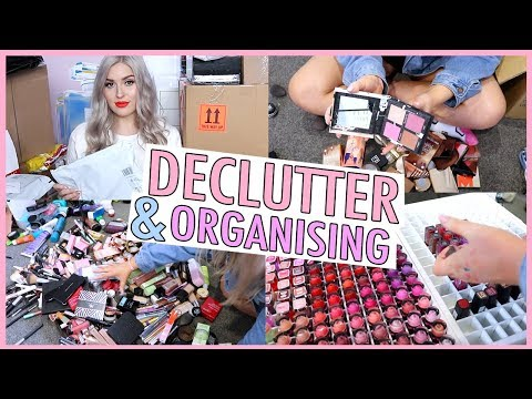 PUT AWAY MAKEUP WITH ME! 😅✨ Decluttering My New Makeup 😍