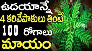 ఉదయాన్నే 4 కరివేపాకు ఆకులు తింటే 100 రోగాలు మాయం || Health Benefits Of Curry Leaves
