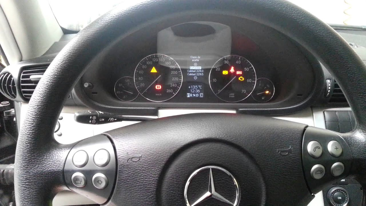 Mercedes Benz C Class W203 2005 Reset Service Youtube