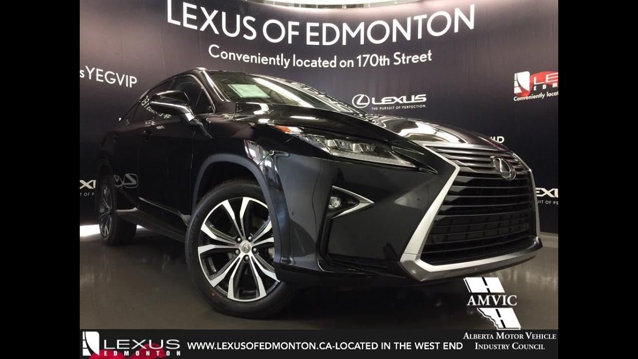 2016 Black Lexus Rx 350 Awd Luxury Walkaround Review West Edmonton Alberta