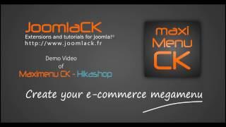 So erstellen Sie eine Joomla! e-commerce, megamenu - Nutzung Maximenu CK mit Hikashop