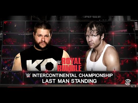 WWE Royal Rumble 2016: Dean Ambrose vs. Kevin Owens WWE 2K16 Simulation