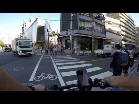 Cycling in Osaka : Naniwa-suji _ Fukushima , Ōsaka-shi _ Osaka station