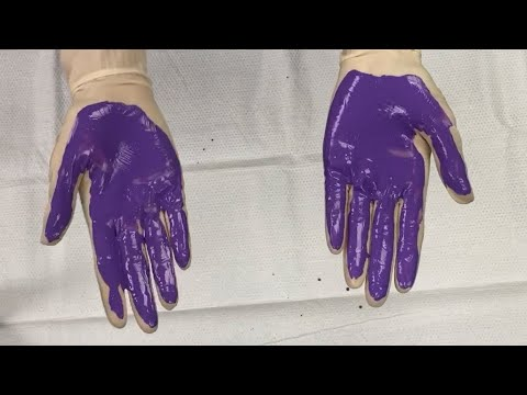 Washing your hands: The purple paint demonstration