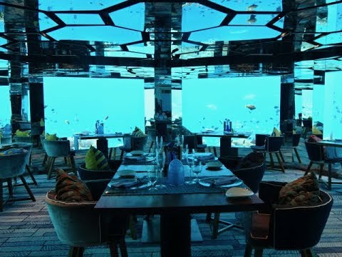 Sea Underwater Restaurant, Anantara Kihavah Resort ...