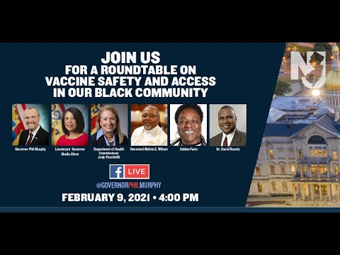 Governor Murphy Holds Roundtable on Vaccine Safety and Access in New Jersey's Black Community