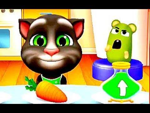 Новая мульт игра Кот Том 2 , #2, Кормим желейного питомца. Говорящий том, новые уровни, #мультики