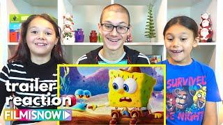 THE SPONGEBOB MOVIE: SPONGE ON THE RUN (2020) d-three KIDS React to Trailer | Trailer Reaction