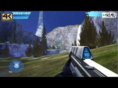 XQEMU Xbox Emulator - Halo: Combat Evolved Gameplay 4k 2160p! (Experimental Performance WIP)
