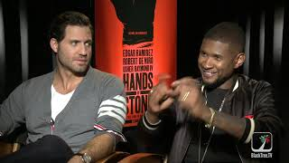 Usher and Edgar Ramirez on HANDS OF STONE
