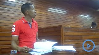 Mohammed 'Jicho Pevu' gives evidence in a petition challenging his election
