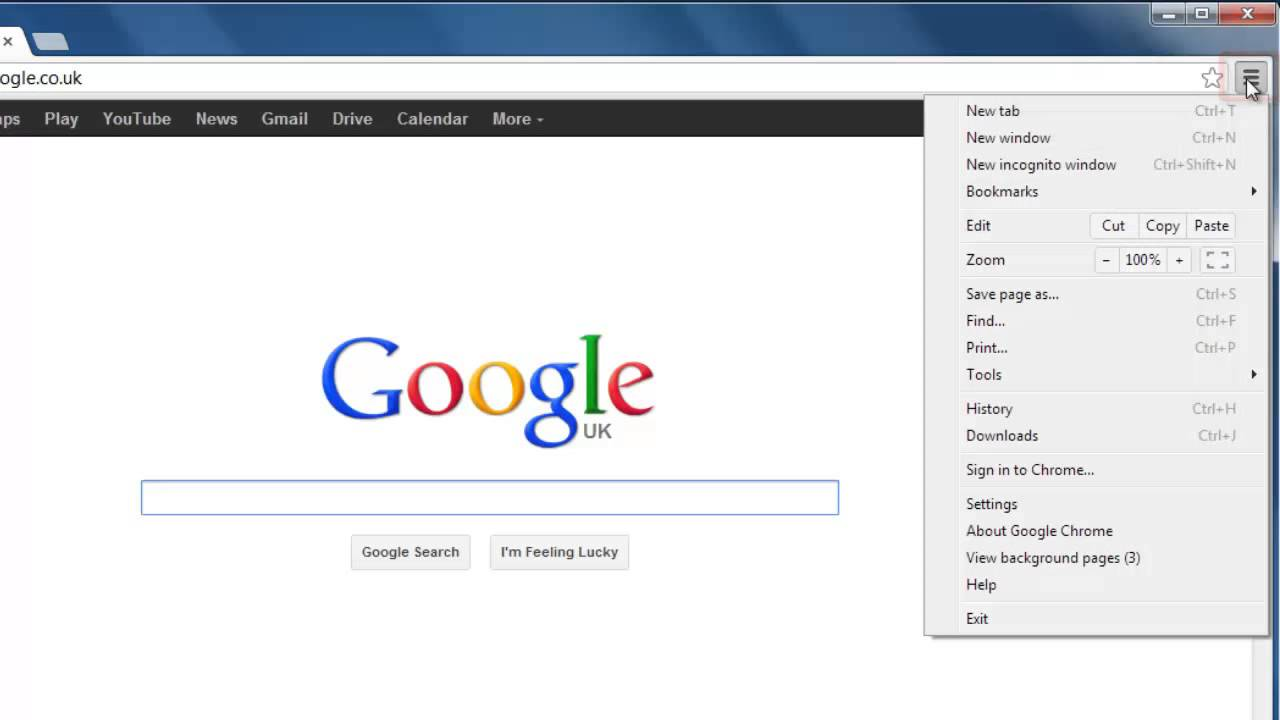 How to get google Chrome Home button