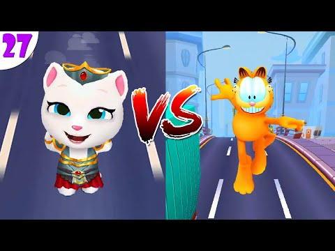 Говорящий Том: бег за золотом VS Garfield Rush попег Анджелы и Гарфилда ч.27