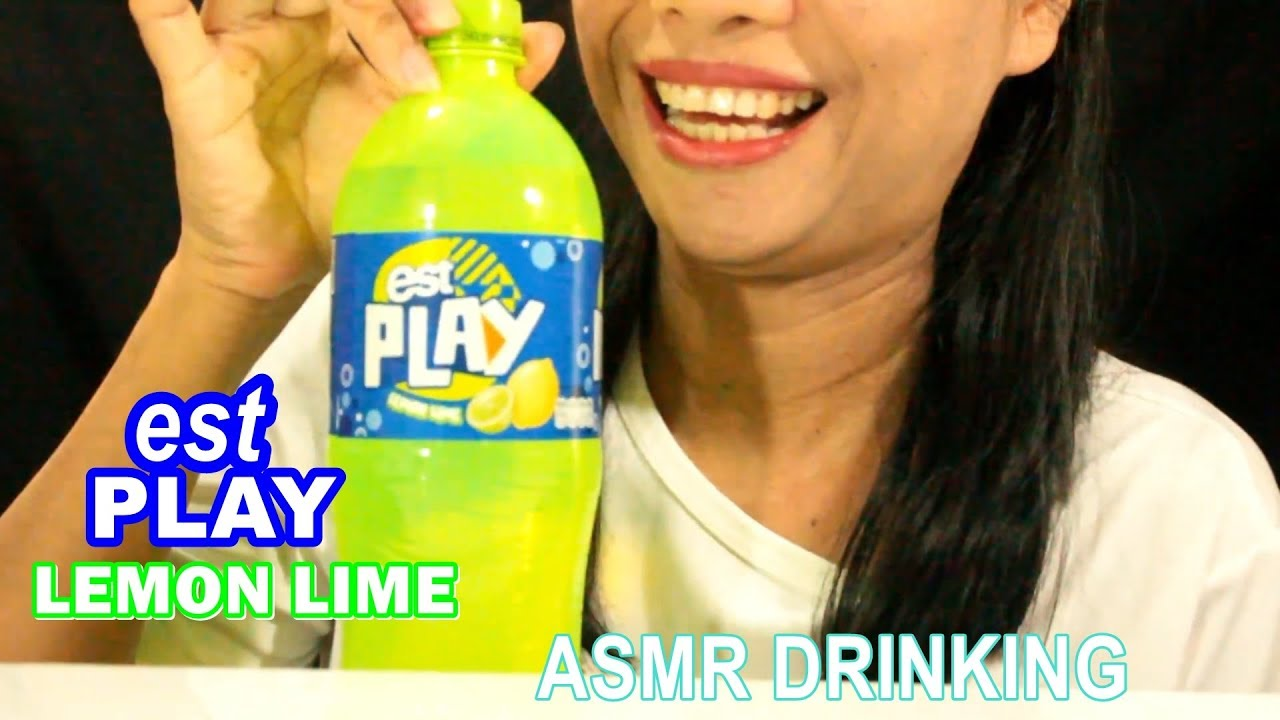 ASMR DRINKING SODA EST PLAY LEMON LIME เอสเพลย์ เลมอนไลม์ | DRINKING SOUNDS| NO TALKING| #DOOSEE