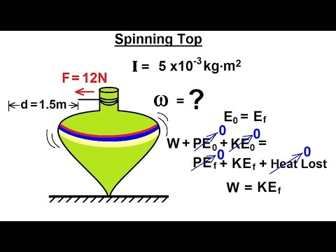Physics - Mechanics: Rotational Kinetic Energy (19 of 19) Spinning Top