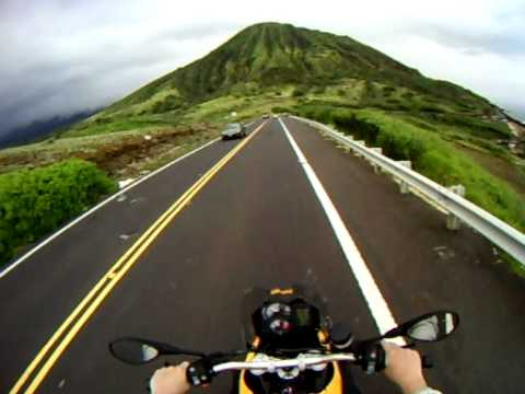 motorcycle ride in oahu, hawaii on a bmw f800gs - youtube