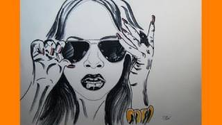 2. Alexis Jordan - Hush Hush Speed Drawing