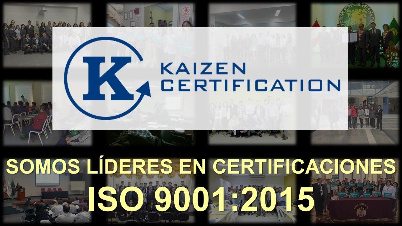 PRESENTACION KAIZEN CERTIFICATION - OCT 2016 - YouTube