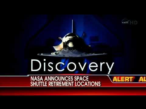 NASA Announces Space Shuttle Retirement Locations - YouTube