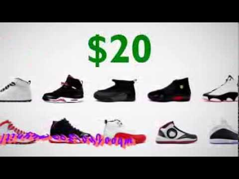 WHOLESALE NIKE AIR JORDANS 20 DOLLARS A PAIR - YouTube 4b14a8e91