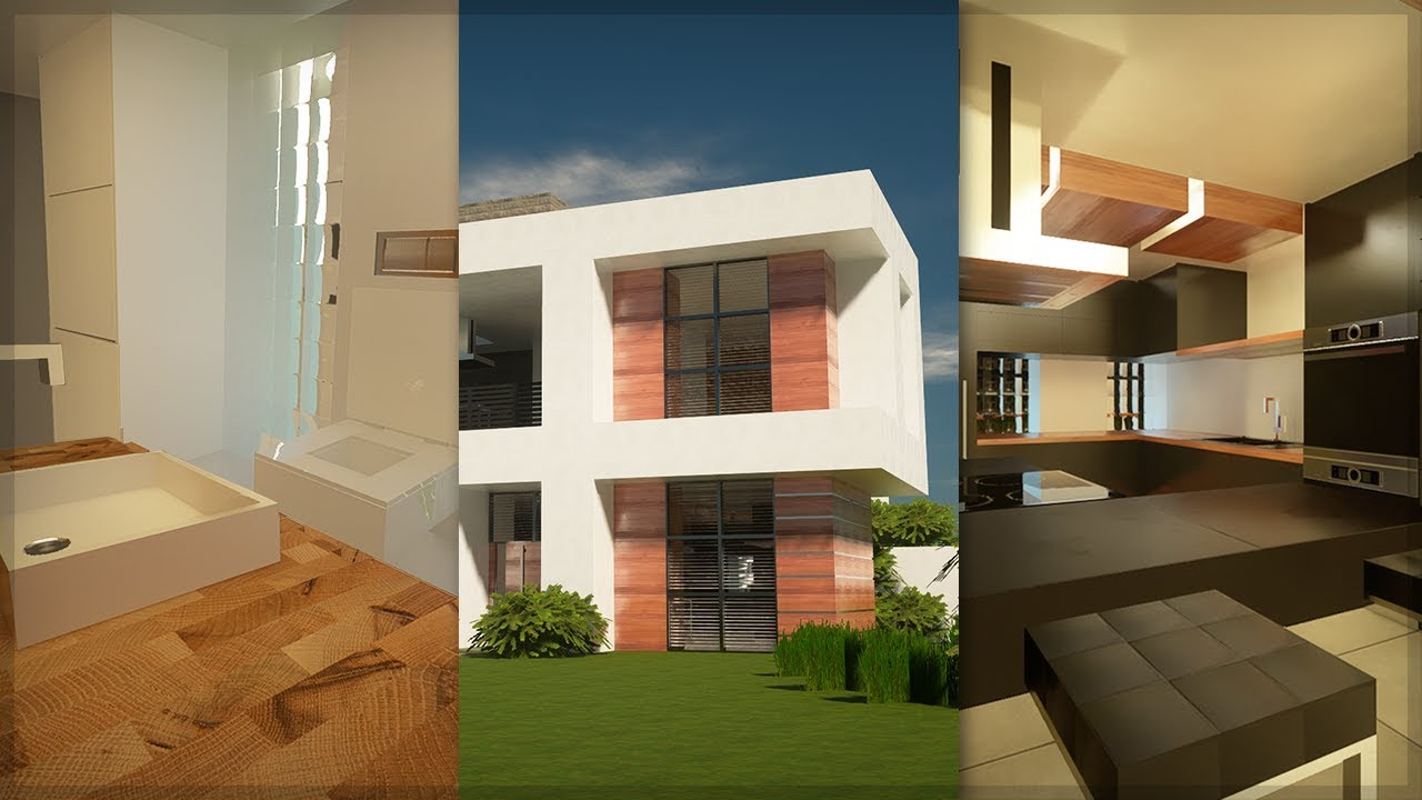 ✔ MINECRAFT ULTRA REALISTIC GRAPHICS 11K - MODERN HOUSE + RAYTRACING