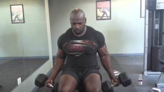 50 lb Seated db curls
