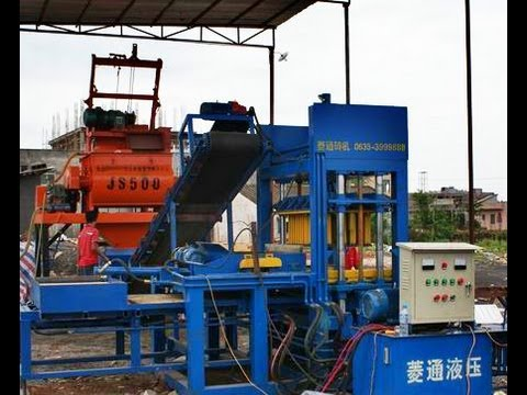 QT 6-20 block making machine for sale, hollow block machine