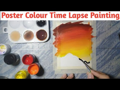 How To Paint With Poster Colours | Poster Color Painting. - Jdarts 08