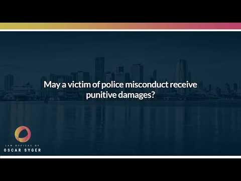May a victim of police misconduct receive punitive damages?