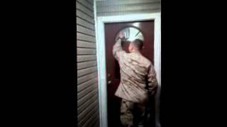 Marine surprises family!
