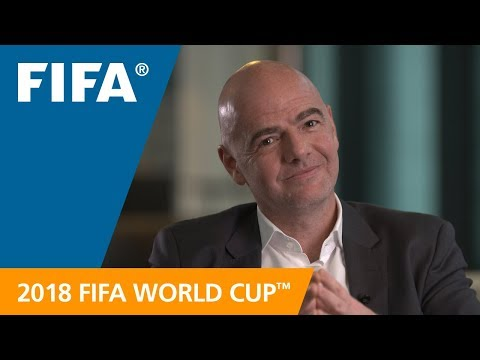FIFA President looks forward to the 2018 FIFA World Cup Russia™