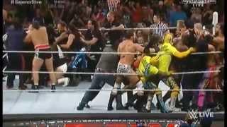 Brock Lesnar And The Undertaker Brawl Before SummerSlam - WWE Raw July 20 2015