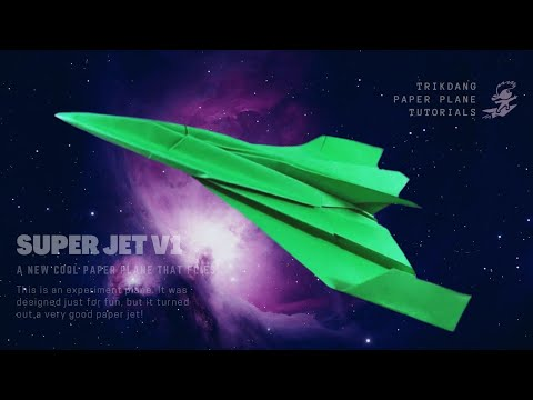 BEST ORIGAMI AIRPLANE - How to make a Paper Airplane for