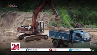 Bình Thuận: Phá núi mở đại công trường khai thác cát trái phép ở Hàm Tân   VTV24