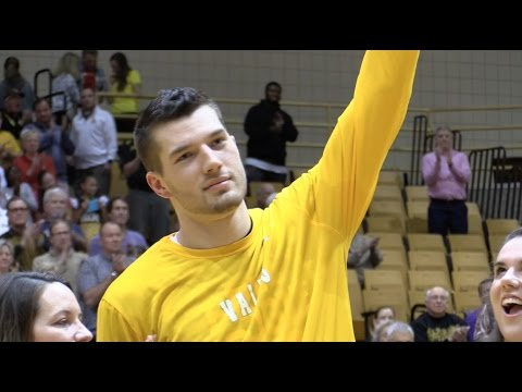 Valpo Men's Basketball Senior Night Ceremony