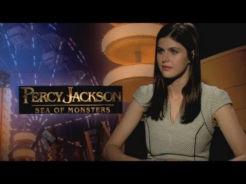 Percy Jackson: Sea of Monsters - Alexandra Daddario chats hanging out with ...