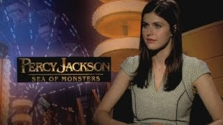Percy Jackson: Sea of Monsters - Alexandra Daddario chats hanging out with Logan Lerman