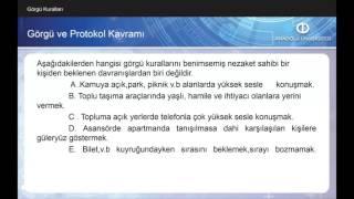 İŞ ORTAMINDA PROTOKOL VE DAVRANIŞ KURALLARI Ü1 - S1