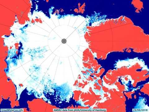 The Start of the 2016 Arctic Sea Ice Melting Season