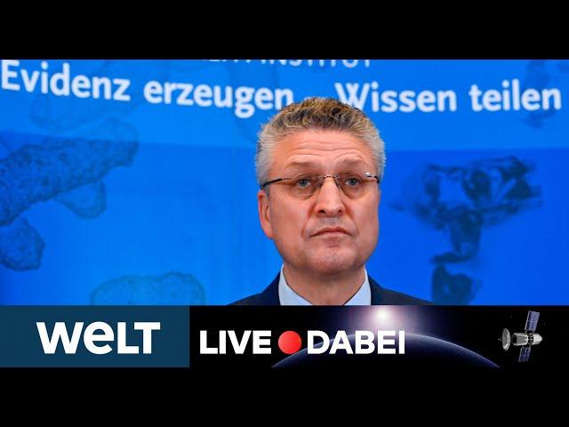 LIVE DABEI: Briefing des Robert Koch-Instituts zur Corona-Lage in Deutschland