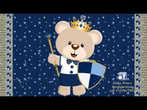 Convite Animado Chá De Bebê Ursinho Príncipe Youtube