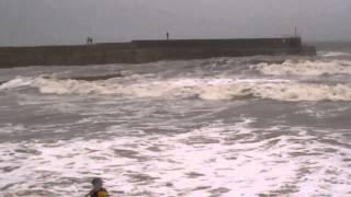 Winter Storm Waves Coast St Andrews Fife Scotland